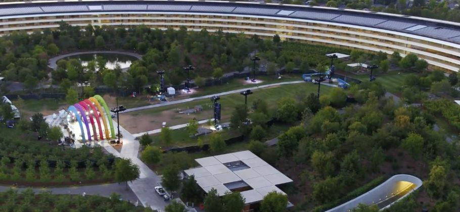 Apple Park a vista de dron