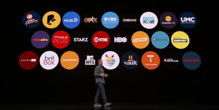 Canales de Apple TV iniciales