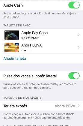 tarjeta express en Apple Pay