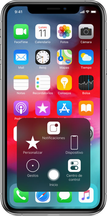 AssistiveTouch de iPhone X