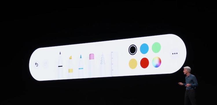 Paleta y herramientas para Apple Pencil