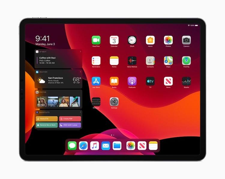 iPadOS - modo oscuro