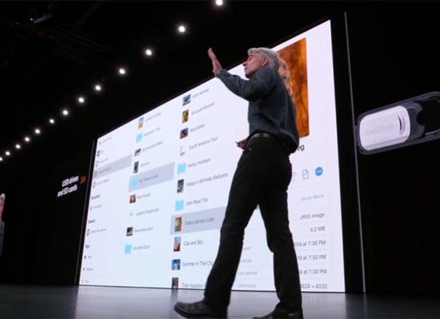Craig Federighi presentando iPadOS y las novedades con app Archivos
