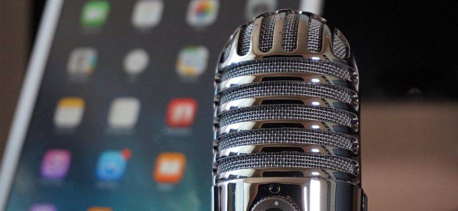 micrófono iPad podcast