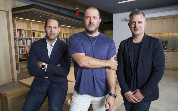 Jony Ive, Alan Dye y Richard Howarth