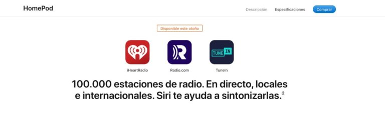 Siri Live Radio - Disponible este otoño