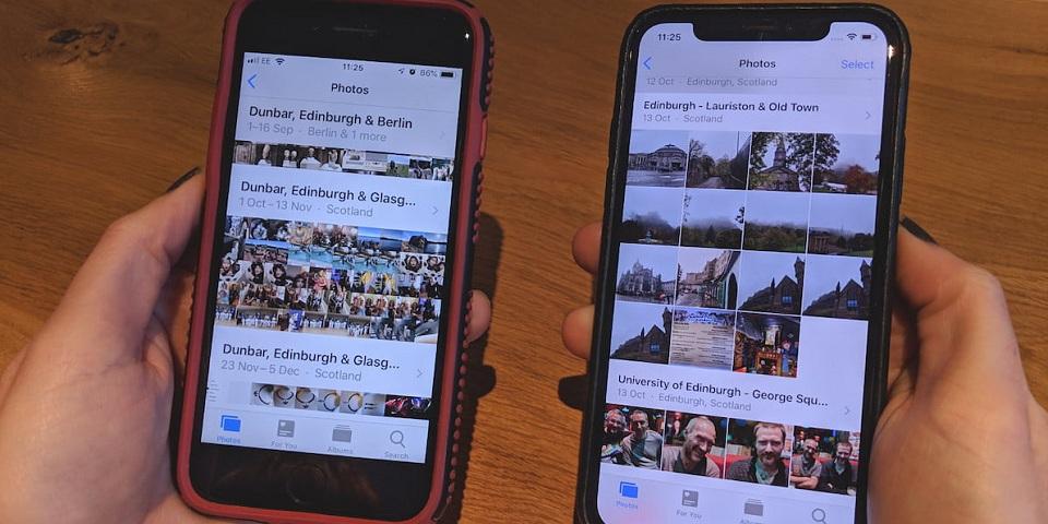 limpiar rápidamente las fotos en iPhone
