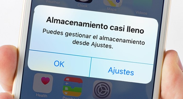 memoria del iPhone llena