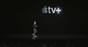 Tim Cook en la presentación del Apple TV+