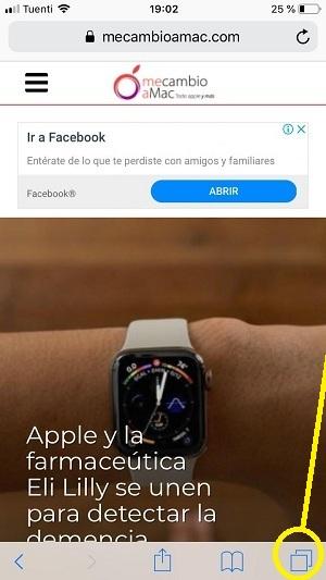recuperar las pestañas cerradas de Safari en iPhone