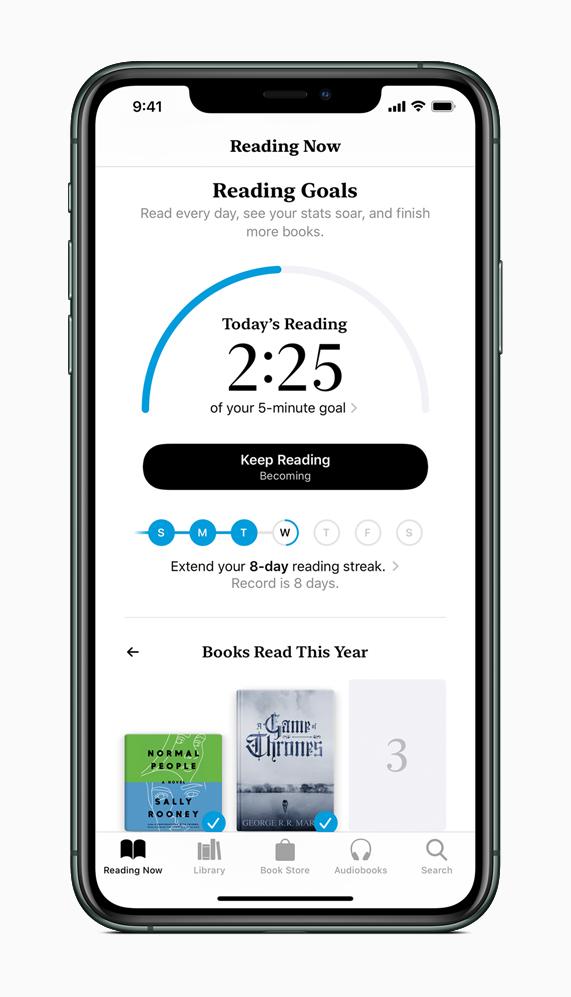 Función Objetivos en Apple Books