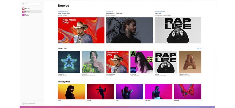 Beta de Apple Music web