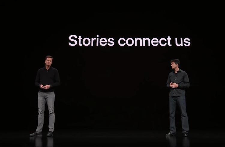 Jamie Erlicht y Zack Van Amburg en el Apple Event marzo 2019