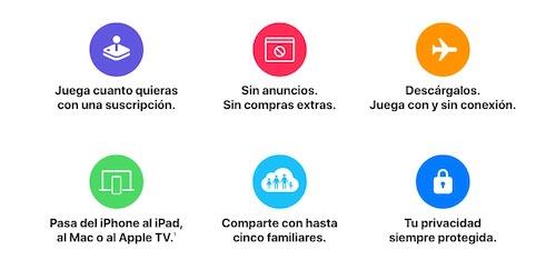 Información de Apple Arcade