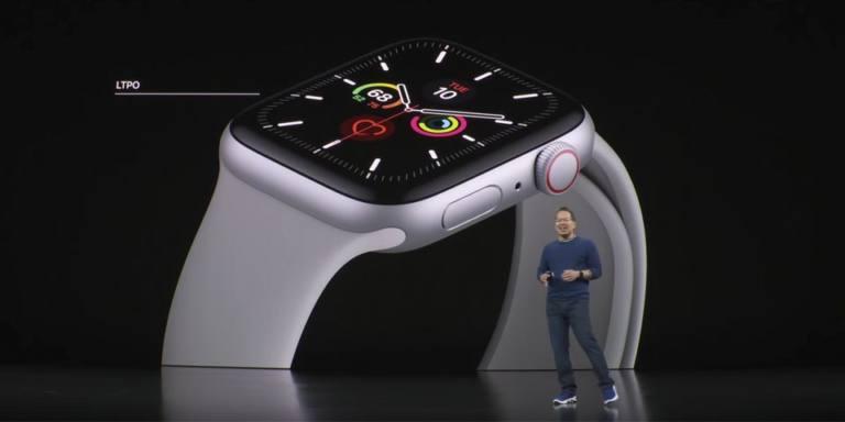 Stan Ng presentando el Apple Watch Series 5
