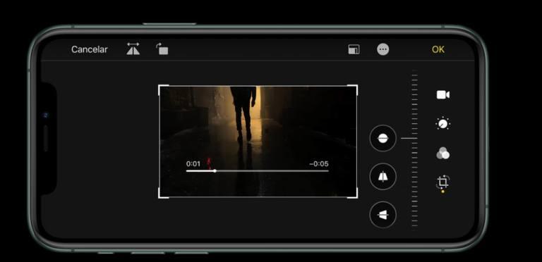 iPhone 11 Pro edición de vídeo en iOS 13
