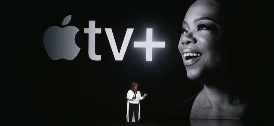 Oprah Winfrey en la presentación de Apple TV+
