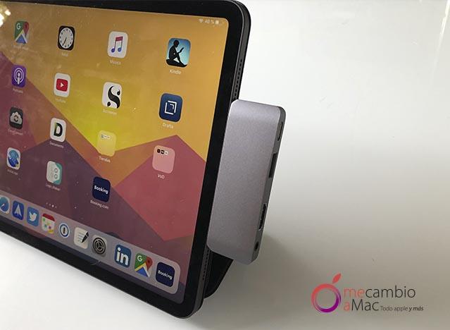 iPad Pro y Satechi Type-C Mobile Pro Hub