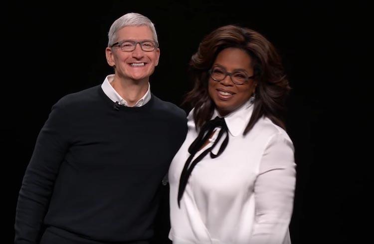 Tim Cook y Oprah Winfrey