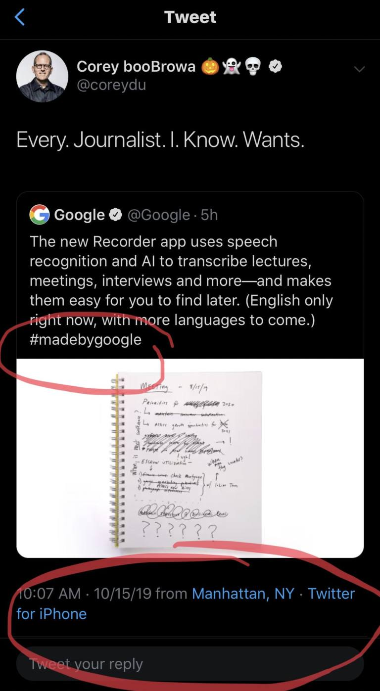 Corey duBrowa de Google