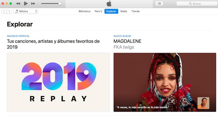 Anuncio Apple Music - playlist replay