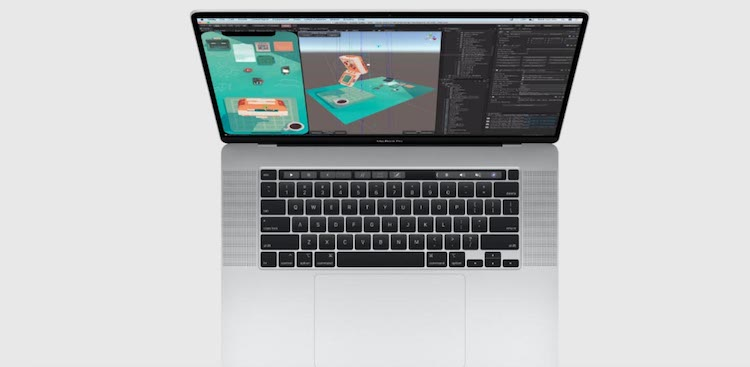 teclado MacBook Pro 16 pulgadas - 2019