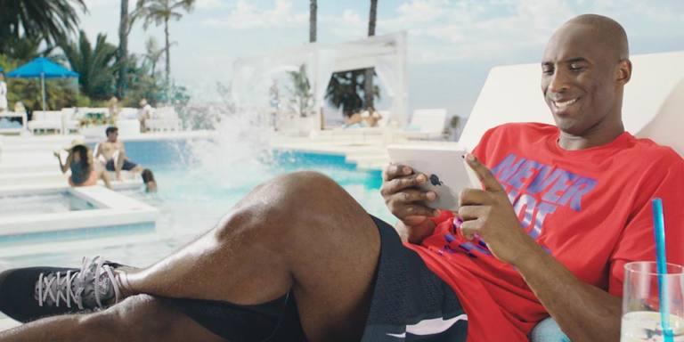 Kobe Bryant y un iPad mini
