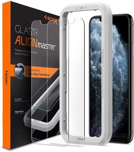 2 protectores de Spigen para la pantalla del iPhone 11