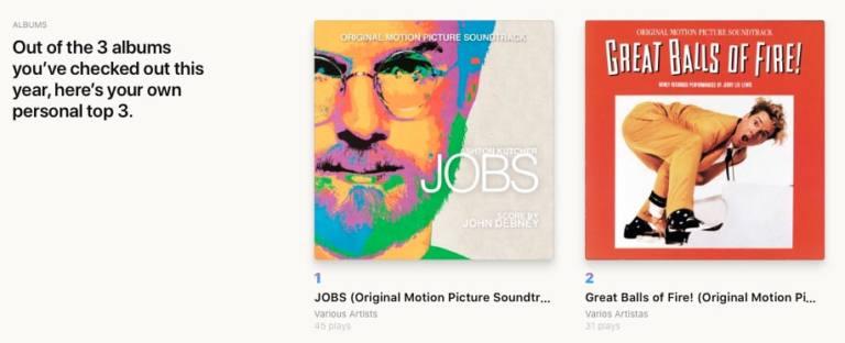 Discos más escuchados en Replay 20 de Apple Music
