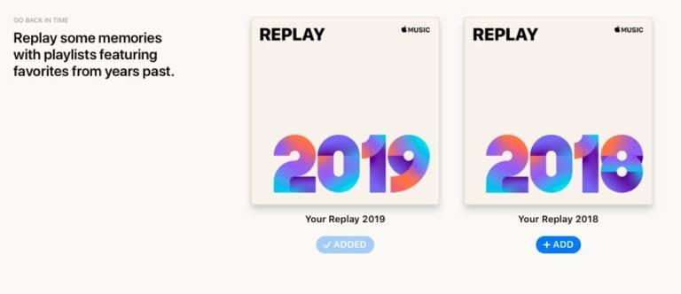 Replay 2018 de Apple Music