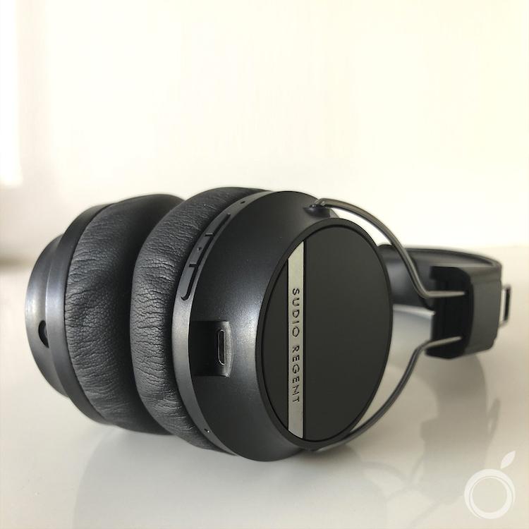 Botones y USB de los Auriculares Sudio Regent II