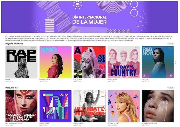 Apple Music - Día de la mujer 2020