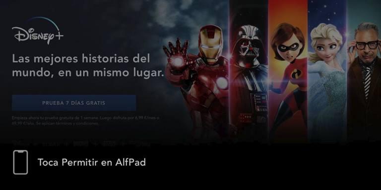 Tocar en el iPad - Disney +