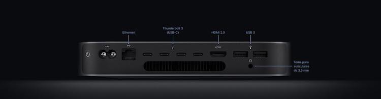Puertos Mac mini 2020