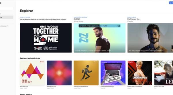 web de Apple Music