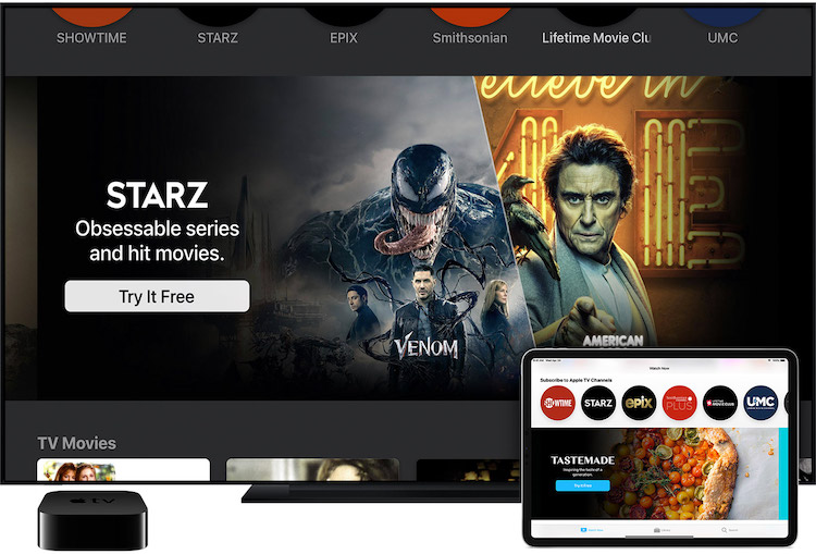 Canales de Apple TV