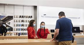Apple Store mascarillas covid 19