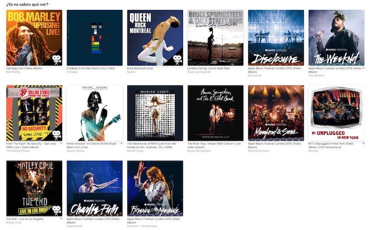 Conciertos Apple Music