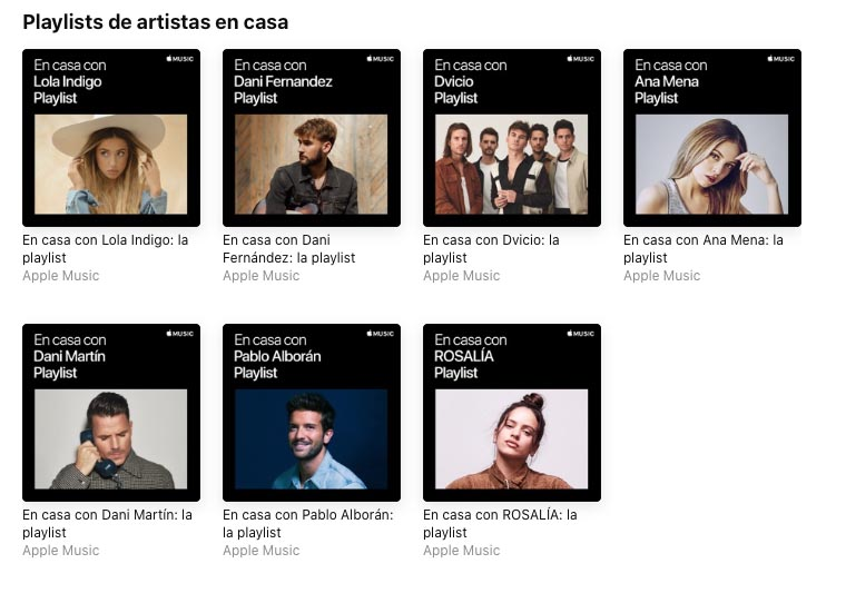 En casa con Apple Music - playlist España