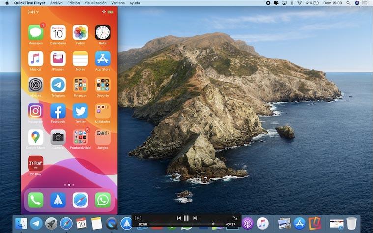 Ver la pantalla del iPhone en el Mac con el cable Lightning