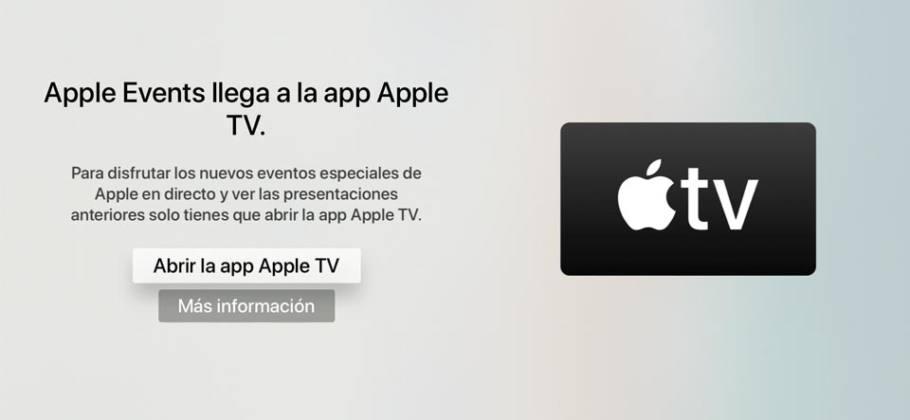 app Apple Events en app Apple TV