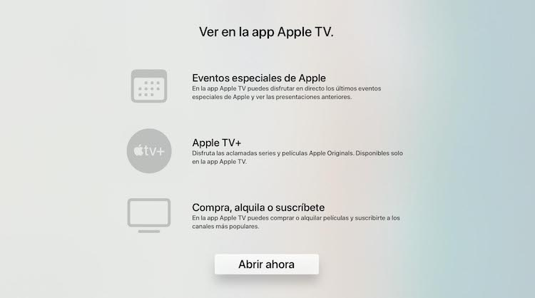 app Apple Events en app Apple TV - más info
