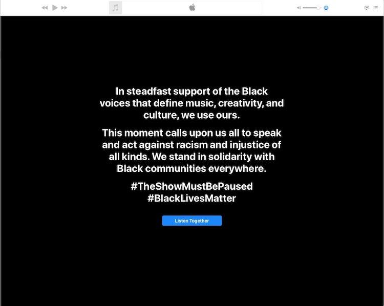 Apple Music - Black Lives matter