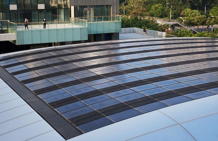 Paneles solares  del Apple Sanlitun