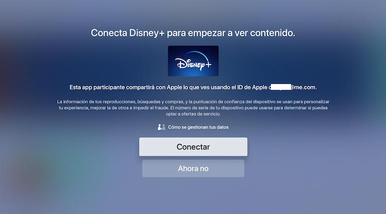 Cómo conectar Disney+ con la app Apple TV