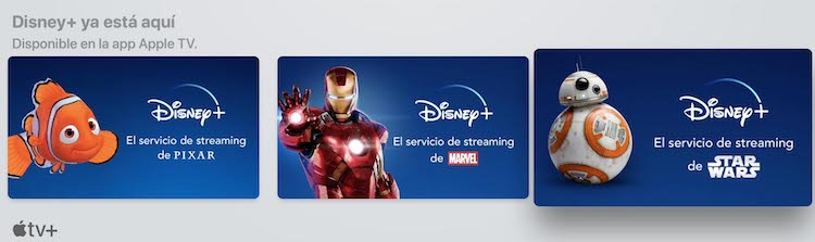 Disney+ en la app Apple TV