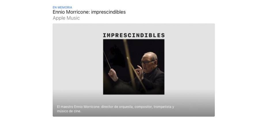 Ennio Morricone en Apple Music