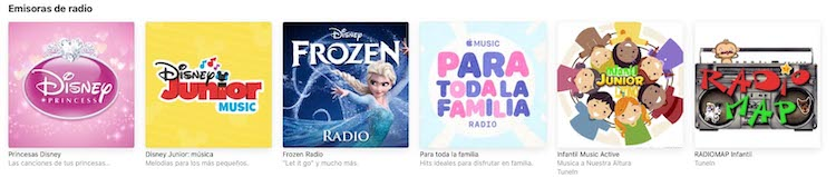 Apple Music - Emisoras de radio infantiles