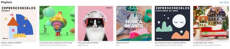 Apple Music - Playlist infantil destacadas