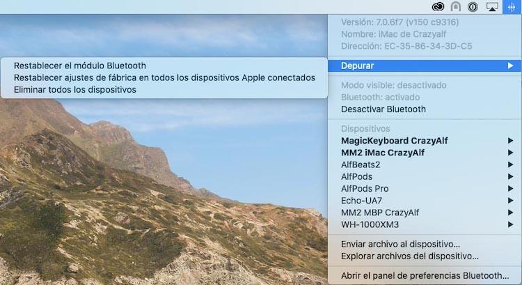 Depurar Bluetooth macOS